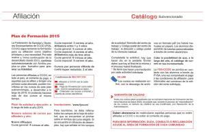 Plan de formación 2015